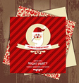 Invitation card of christmasChristmas seamless pat vector image