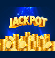 jackpot in the form of gold coins vector image vector image