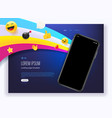 landing page with modern smartphone vector image