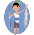 Little Angler vector image