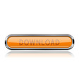 long orange download button with bold chrome frame vector image