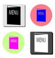 menu flat icon vector image vector image
