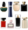 modern perfume icons vector image