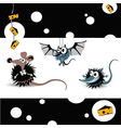 Mouse cheese vector image vector image