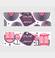 musical instruments set banners vector image