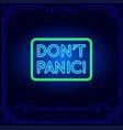 neon light sign vector image