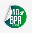 no bpa bisphenol-a and phthalates lcertified vector image