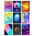party pattern disco club or nightclub vector image