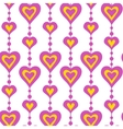 Pink hearts and pearls seamless pattern vector image vector image