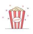 popcorn icon isolated vector image vector image