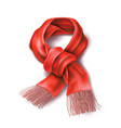 realistic knitted warm scarf chirstmas sign vector image vector image