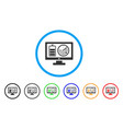remote battery monitoring rounded icon vector image vector image
