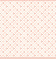 rose diamond pattern seamless vector image vector image