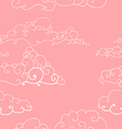 seamless pattern of imaginative clouds vector image vector image