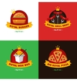 set bright royal food delivery and vector image