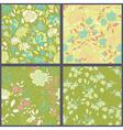 set floral seamless patterns vector image