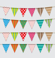 Set of colorful and bright bunting vector image vector image