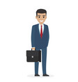 smiling manager or administering in business suit vector image vector image