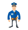Smiling policeman icon cartoon style vector image vector image