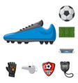 soccer and gear icon set vector image vector image