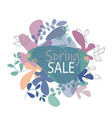 spring sale background trend organic shape vector image