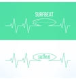 surf surfbeat creative background and logo vector image vector image
