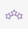three linear score stars in circle linear icon vector image vector image