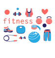 tools for sports and fitness vector image vector image