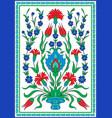 turkish floral design vector image vector image