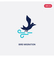 two color bird migration icon from autumn concept vector image vector image