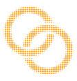 wedding rings halftone icon vector image