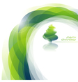 Abstract background with shiny Christmas tree vector image