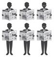 Businessman Read Newspaper vector image
