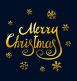 Merry Christmas and New Year 2016 lettering vector image