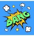 bang comic explosion vector image