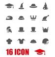grey helmet and hat icon set vector image