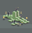 pile of money vector image