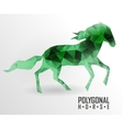 Abstract polygonal horse Geometric hipster vector image vector image