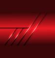 abstract red metallic overlap line shadow design vector image vector image