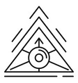 alchemy triangle icon outline style
