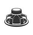 audio speaker icon subwoofer speaker for car vector image