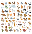Big animals set4 vector image vector image