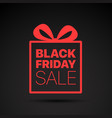 black friday sale red logo concept vector image vector image