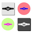 boxing belt flat icon vector image