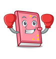 boxing diary character cartoon style vector image vector image