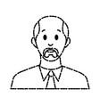 businessman avatar cartoon vector image vector image