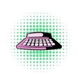 Calculator icon in comics style vector image vector image