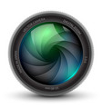 camera shutter photo focus isolated design lens vector image