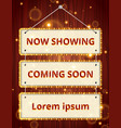 casino cinema retro signage rope with on wood vector image vector image
