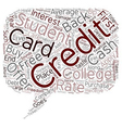 College Student Credit Cards text background vector image vector image